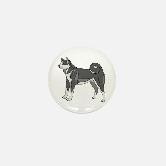 Akita dog Mini Button