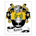 Laurie Family Crest Small Poster