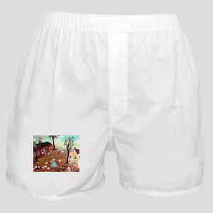 BARNYARD MORNING Boxer Shorts