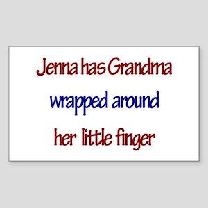 Jenna Has Grandma Rectangle Sticker