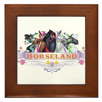 Horseland T Framed Tile