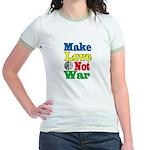 """MAKE LOVE NOT WAR"" Jr. Ringer T-Shirt"