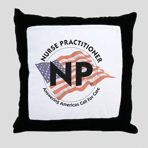 Patriotic Nurse Practitioner Throw Pillow
