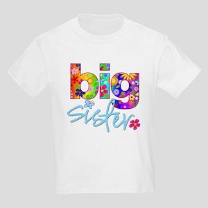 e19b3eac331 big sister t-shirt flower Kids Light T-Shirt