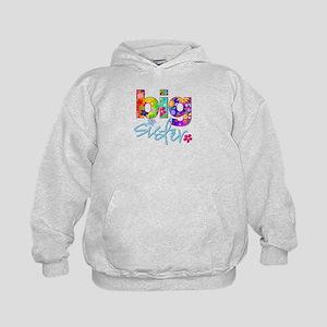 big sister t-shirt flower Kids Hoodie
