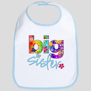 big sister t-shirt flower Bib