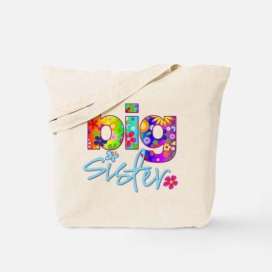 big sister t-shirt flower Tote Bag