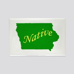 Iowa Native Rectangle Magnet