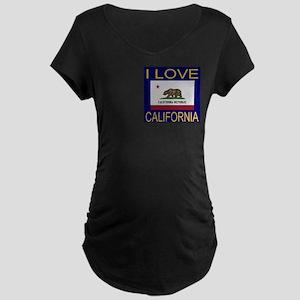 I Love California Maternity Dark T-Shirt