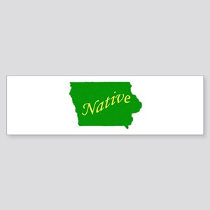 Iowa Native Bumper Sticker