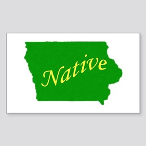 Iowa Native Rectangle Sticker