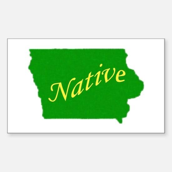 Iowa Native Rectangle Stickers