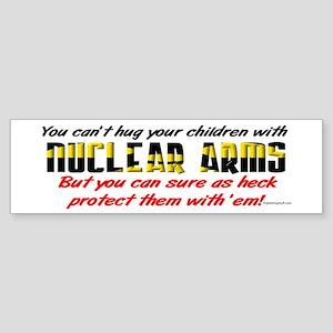 Hug Nuclear Arms Bumper Sticker