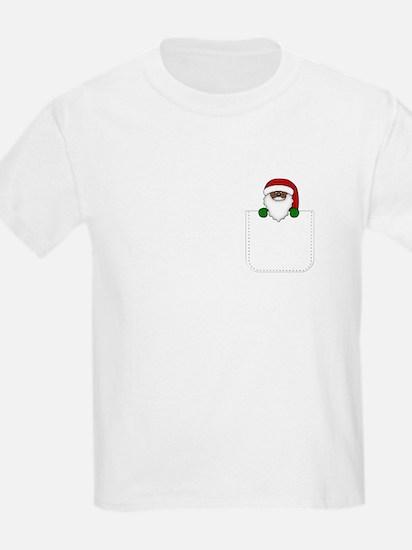 African American Santa Kids Light T Shirt