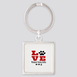 Love Wirehaired Pointing Griffon D Square Keychain