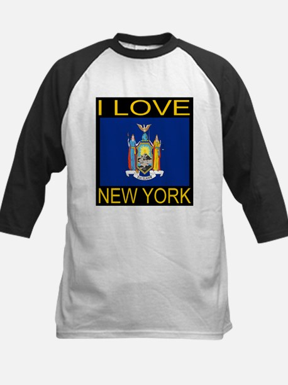 I Love New York Kids Baseball Jersey
