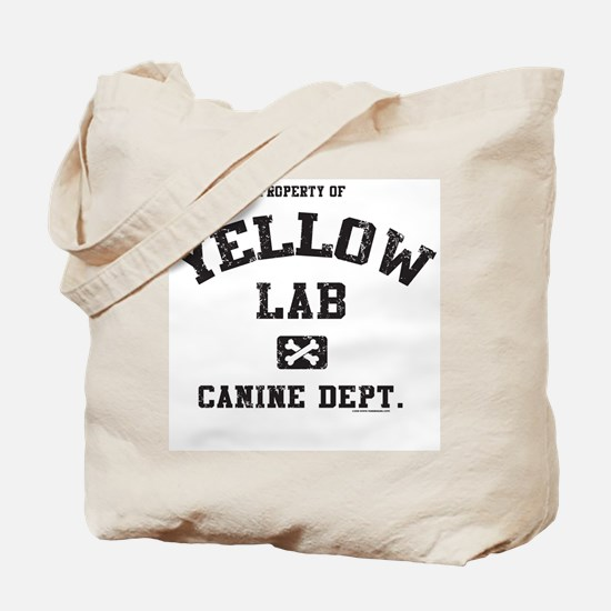 Canine Dept. - Yellow Lab Tote Bag