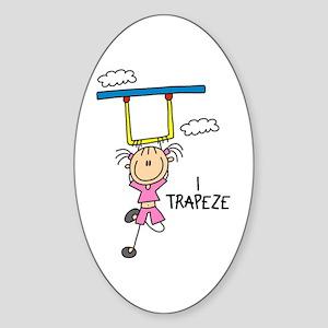 I Trapeze Oval Sticker