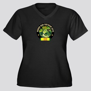 Vietnam Veterans Women's Plus Size V-Neck Dark T-S