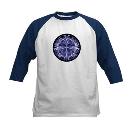 Kids Blue Cirle-in-Circle Baseball Jersey