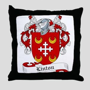Linton Family Crest Throw Pillow