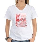 8-Tube Women's V-Neck T-Shirt