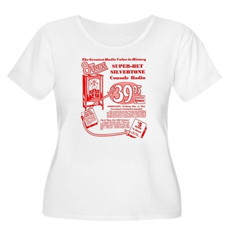 8-Tube Women's Plus Size Scoop Neck T-Shirt