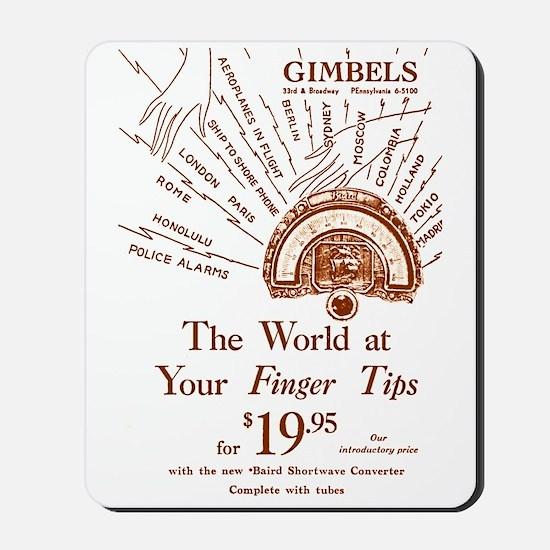 Gimbels Radio Ad Mousepad