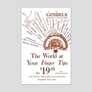 Gimbels Radio Ad Mini Poster Print