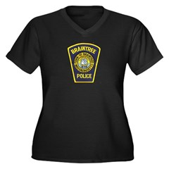 Braintree Police Women's Plus Size V-Neck Dark T-S