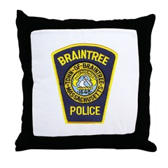 Braintree Police Throw Pillow
