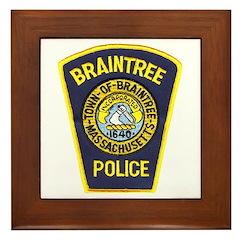 Braintree Police Framed Tile