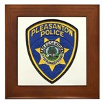 Pleasanton Police Framed Tile