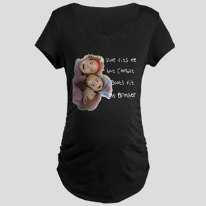 My Brother's Boots Maternity Dark T-Shirt