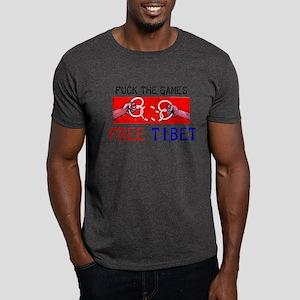 Fuck the Games, Free Tibet Dark T-Shirt