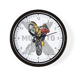 Motocross Wall Clocks