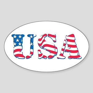 USA Sticker (Oval)