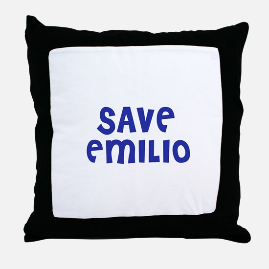 Save Emilio Throw Pillow