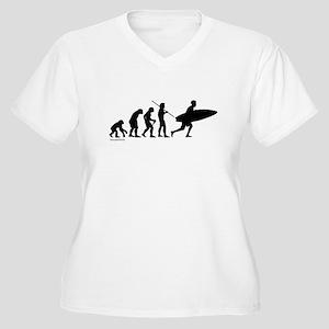 Surfer Evolution Women's Plus Size V-Neck T-Shirt