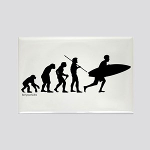 Surfer Evolution Rectangle Magnet (10 pack)