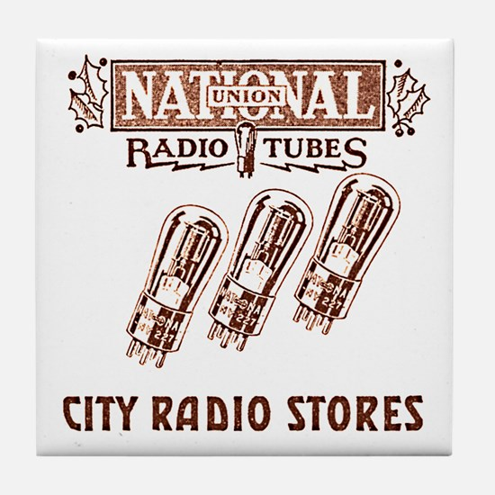 National Radio Tubes Tile Coaster