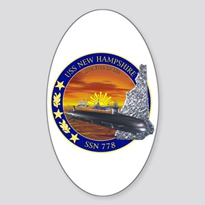 SSN 778 USS New Hampshire Oval Sticker