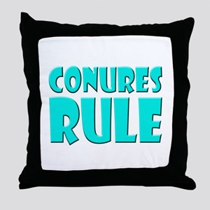 Conures Rule Throw Pillow