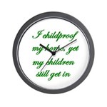 PARENTING HUMOR Wall Clock