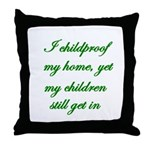 PARENTING HUMOR Throw Pillow