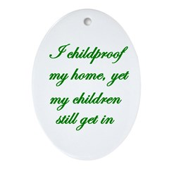 PARENTING HUMOR Oval Ornament