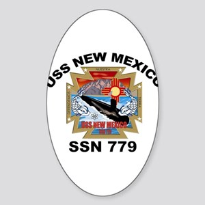 SSN 779 USS New Mexico Oval Sticker