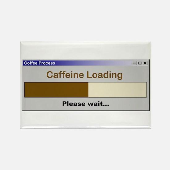 Caffeine Loading Please Wait Rectangle Magnet