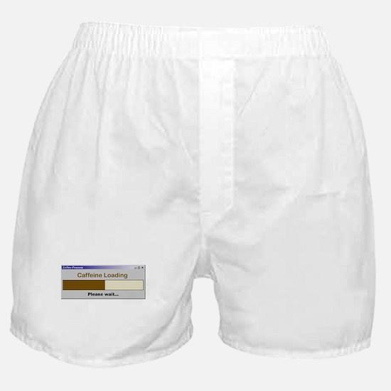 Caffeine Loading Please Wait Boxer Shorts