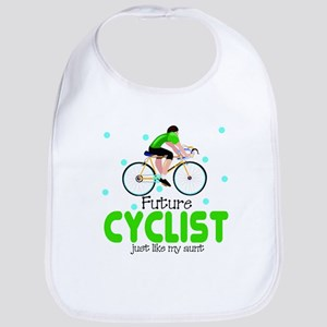 Future Cyclist like Aunt Baby Infant Toddler Bib